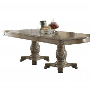 ACME Chateau De Ville Dining Table with Double Pedestal, Cherry (Chairs Separately)