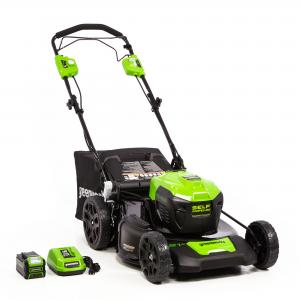 Greenworks 21-Inch 40V Self Propelled Mower 5Ah Battery and Quick Charger Included 2516402