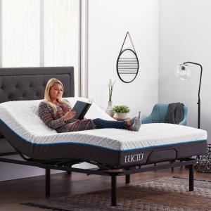 Lucid Basic Remote Controlled Adjustable Bed Base – Heavy Duty Steel Multi Position – Queen