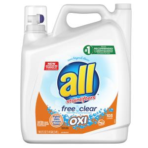 all Free Clear Oxi for Sensitive Skin, Liquid Laundry Detergent , 184.5 fl oz