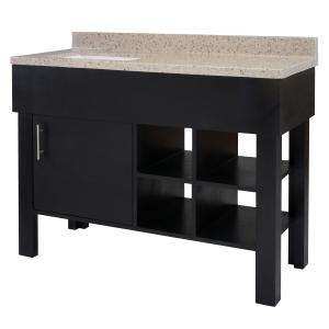 Marienville 49″ Black Vanity with Cultured Marble Top