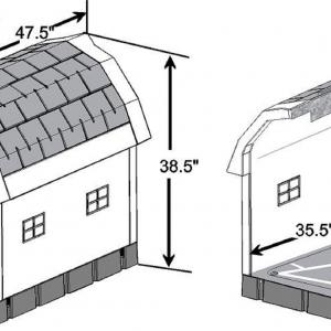 Dog Palace Insulated Dog House with Heating Pad, Large, Inside Dimensions 30.5″H x 24″W x 35.5″L, Grey