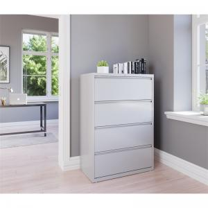 Hirsh 36-in Wide HL8000 Series 4 Drawer Lateral File Cabinet, Light Gray