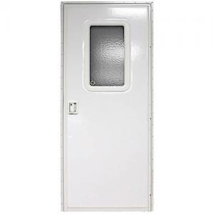 24″ x 68″ RH Square Entry Door, Polar White