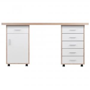 Winsome Wood Kenner 3-PC Modular Desk Set, Two-Tone Finish