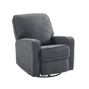 Modern Essentials Salma Upholstered Manual Swivel Glider Chair, Multiple Colors
