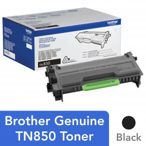 Brother Genuine High Yield Toner Cartridge, TN850, Replacement Black Toner, Page Yield Up To 8,000 Pages