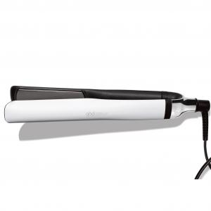 ($249 Value) GHD Platinum Plus Professional Performance Styler Flat Iron, White, 1″