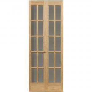 AWC Traditional Divided Light Glass 32″ x 80.5″ Bifold Door