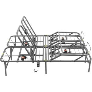 Pragmatic 14″ High Profile Dual Adjustable Steel Bed Frame with Under-Bed Storage, Easy No Tools Assembly, Queen