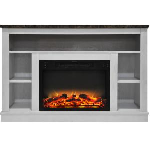 Cambridge Seville 47″ Electric Fireplace Mantel Heater with Enhanced Log and Grate Display