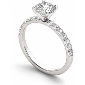 3/4 Carat T.W. Diamond Classic 14kt White Gold Engagement Ring