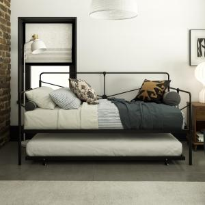 Queer Eye Leopold Metal Daybed, Black, Twin/Twin Size