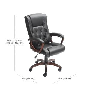 Better Homes and Gardens Bonded Leather Manager's Chair, Black