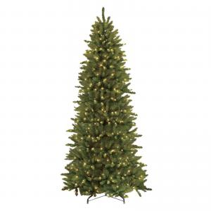 12 Pre-lit Slim Fraser Fir Artificial Christmas Tree 1200 UL listed Clear Lights