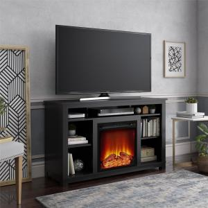 Ameriwood Home Edgewood Fireplace TV Stand for TVs up to 55″, Multiple Colors
