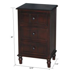 Simplify Three Drawer Accent Table