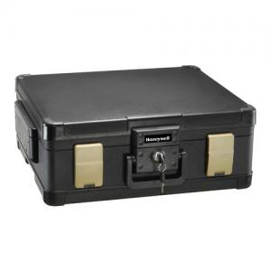 Honeywell 0.39 cu. ft. Waterproof 1-Hour Fire Chest with Key Lock, 1104