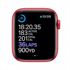Apple Watch Series 6 GPS, 44mm PRODUCT(RED) Aluminum Case with PRODUCT(RED) Sport Band – Regular