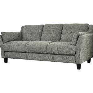 Furniture of America Contemporary Faux Linen Rayshun Sofa, Gray
