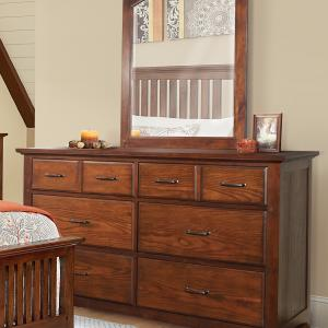 Modern Mission Dresser with Mirror