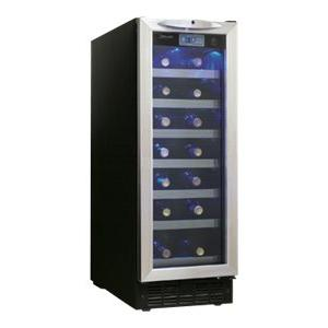 Danby DWC276BLS 27-Bottle Silhouette Wine Cellar – Black/Stainless [Black/Stainless]
