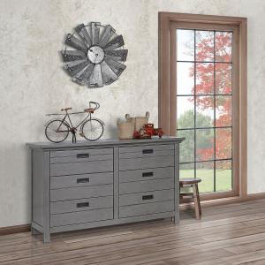 Evolur Waverly Double Dresser, Rustic Grey