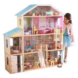 KidKraft Wooden Majestic Mansion Dollhouse with 34 Accessories Included