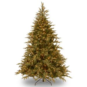National Tree Frasier Grande Tree with Clear Lights-Size:9 Ft