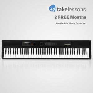 Artesia Performer 88-Key Digital Piano with Sustain Pedal, Power Supply and 2 Months of FREE Online Piano Lessons with TakeLessons