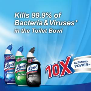 Lysol Power Toilet Bowl Cleaner, 24oz, 10X Cleaning Power