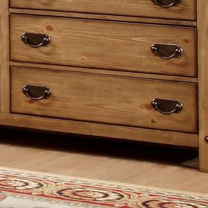 Furniture of America Moira Country 8-Drawer Dresser, Weathered Elm