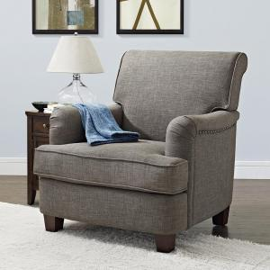 Better Homes & Gardens Grayson Upholstered Club Accent Chair, Gray