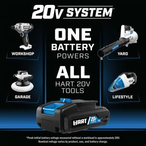 HART 20-Volt Cordless Tools and 200-Piece Drill and Driver Accessory Kit, 16-inch Storage Bag, (4) tools, charger and (2) 1.5Ah Lithium-Ion Batteries