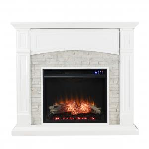 Senonia Electric Media Fireplace – White