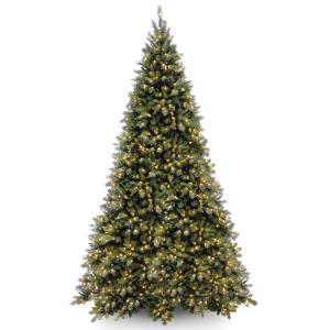 National Tree Tiffany Fir Medium Tree with Clear Lights-Size:12 ft
