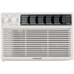 Frigidaire 10,000 BTU 115V Window-Mounted Compact Air Conditioner with Mechanical Controls, White