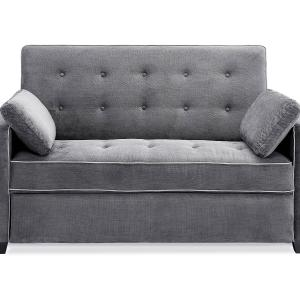 Serta Monroe Queen Sofa Bed, Charcoal
