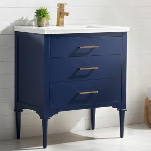 Design Element Mason 30″ Single Sink Bathroom Vanity – No Assembly Required