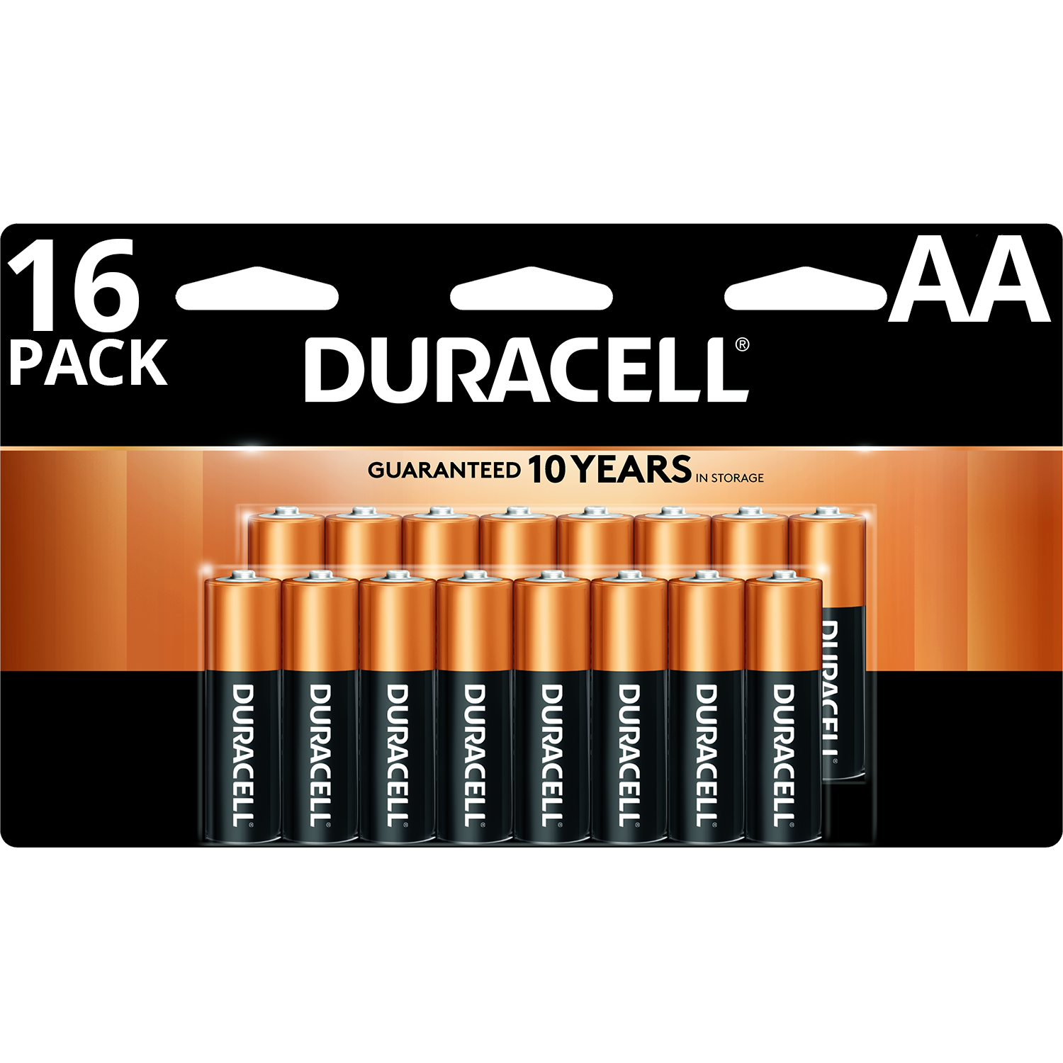 Duracell Coppertop AA Battery, Long Lasting Double A Batteries, 16 Pack