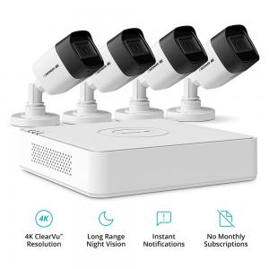 Defender Ultra HD 4K (8MP) 1TB Wired Outdoor Security System with 4 Night Vision Cameras