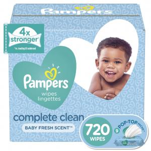 Pampers Baby Wipes, Complete Clean Scented, 9X Refill, 720 Count