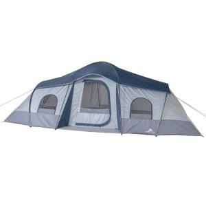 Ozark Trail 10-Person 3-Room Cabin Tent, with 2 Side Entrances