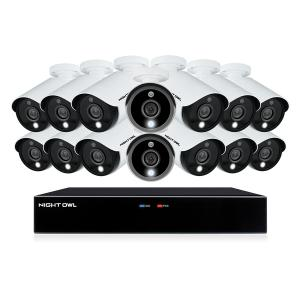 Night Owl Wired 16 Channel DVR with 2TB Hard Drive and 14 Wired 5MP Spotlight Cameras