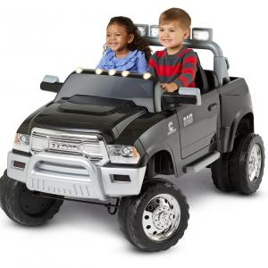 Kid Trax, Ram 3500 Dually, 12 Volt, Battery Powered Ride-On toy, Black, Dualie, pick up truck