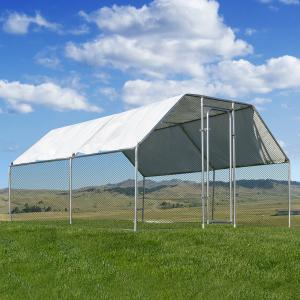 Stark Large 9′ x 12′ feet Outdoor Walk-in Chicken Coops Hen House Cage Roof Cover with Door Cage