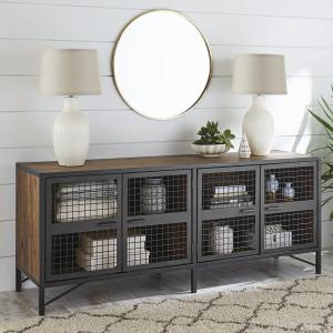 Better Homes & Gardens Lindon Place TV stand for TVs up to 70″, Vintage Oak Finish