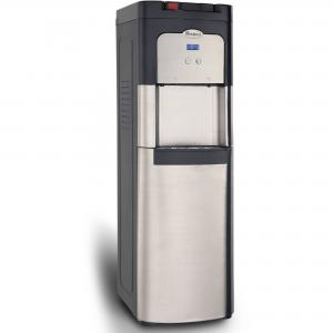Whirlpool Automatic Self Cleaning, Bottom Loading, Commercial Water Dispenser Water Cooler, Stainless Steel with Ice Chilled Water Cooling Technology, Steaming Hot Water and Digital Control Panel