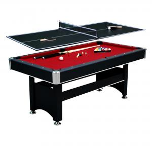 Hathaway Spartan Pool Table, 6-ft, Black/Red