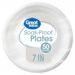 Great Value 7″ Soak-Proof Plates, 50 Count